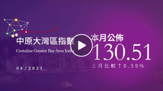 大灣區報告 2021年8月中原大灣區指數 2021年9月15日 中原地產亞太區副主席兼住宅部總裁