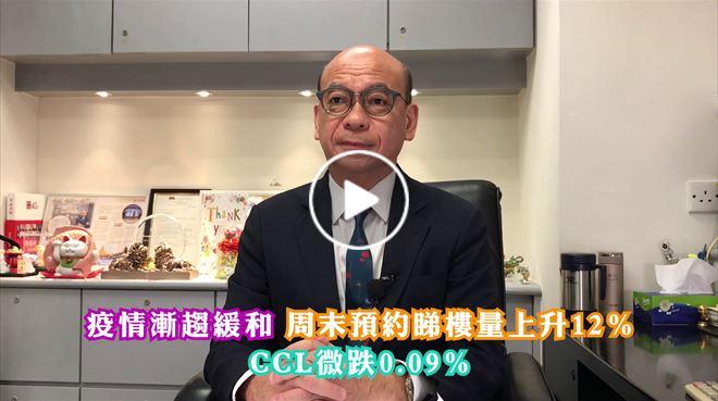 2020年8月14日 疫情漸緩和 預約睇樓量升12% CCL微跌0.09% 中原地產亞太區副主席兼住宅部總裁